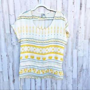 Lucky brand Irving & fine yellow silk blouse